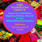 """THE MARBLING GROUP"" – PAPER ART EXHIBITION – TALK & DEMO – MHS"