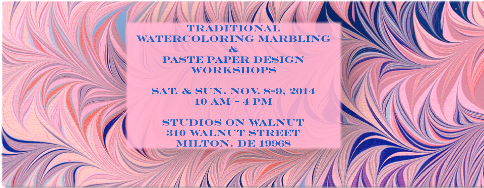MARBLED & PASTE PAPER WORKSHOPS